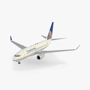 3ds max b 737-700 continental airlines
