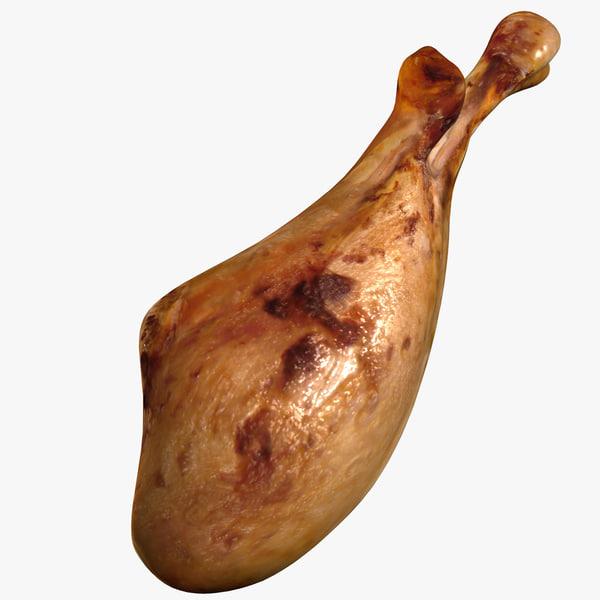 3d roasted turkey leg