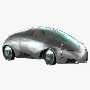 3d model of future sport car