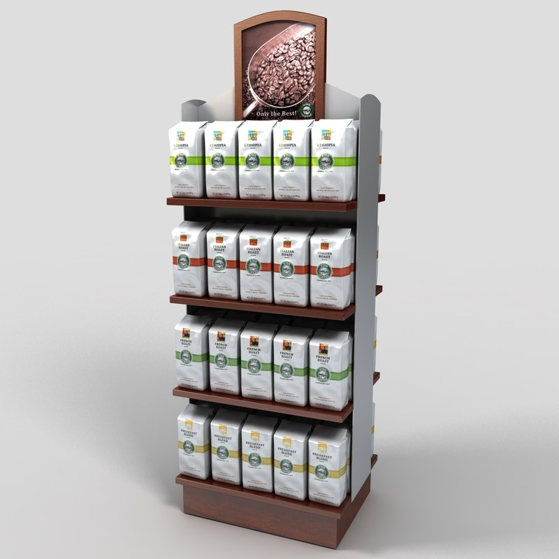 3ds max coffee bag display