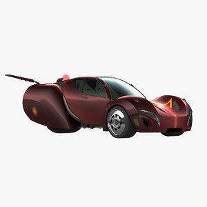 3d model future sport car