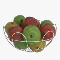 3d basket apple model