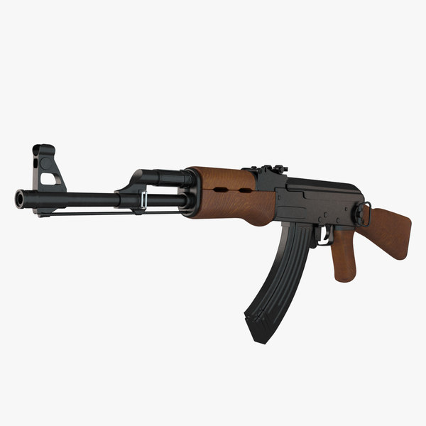 ak 47 typical 3d max