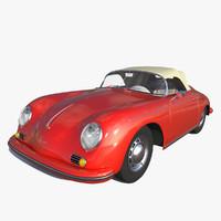 3d model porsche 356 speedster