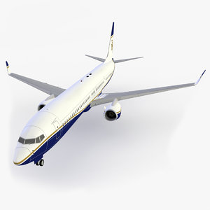 bbj-3 jet b business 3d dxf