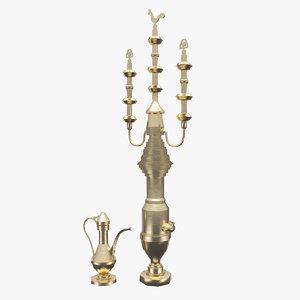 3d model arabic vessel beverages