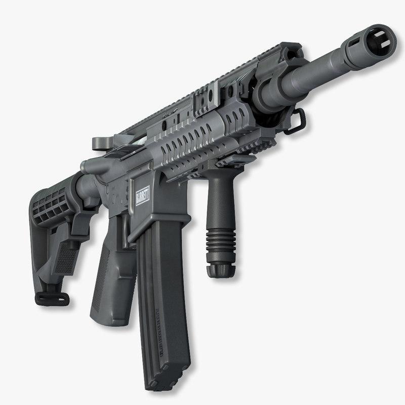 3d barrett rec7 rifle
