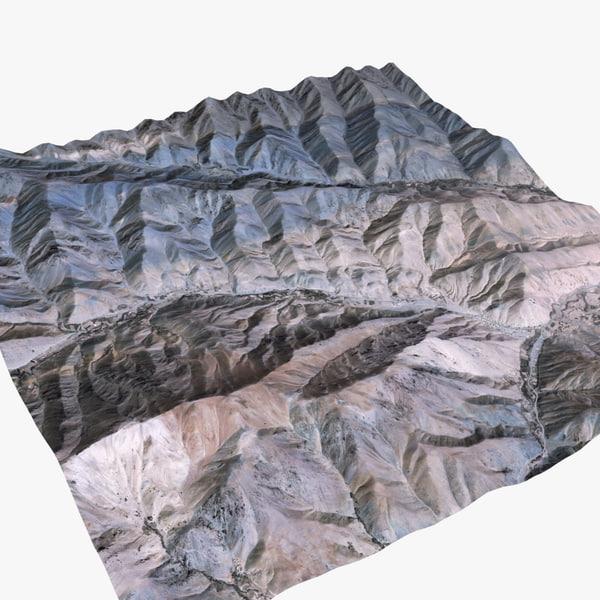 afghanistan valley terrain landscape max