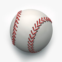 3d model baseball object holes