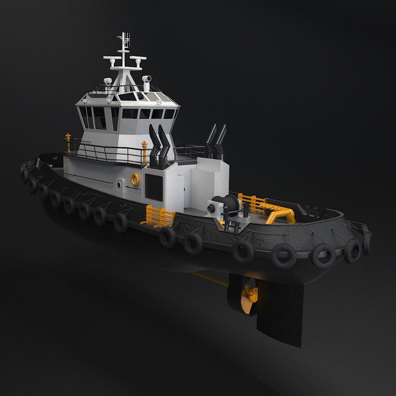 tug boat tugboat 3d model