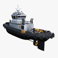 tug boat tugboat 3d model