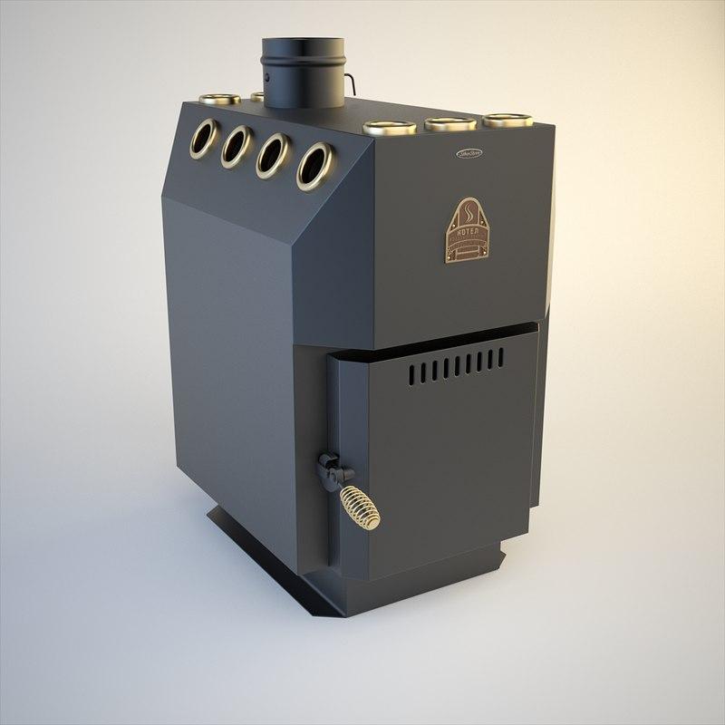 stove siber heater 3d max