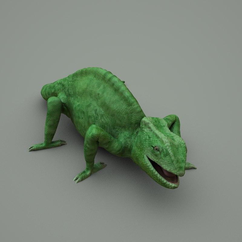 3ds max eyes chameleon animate