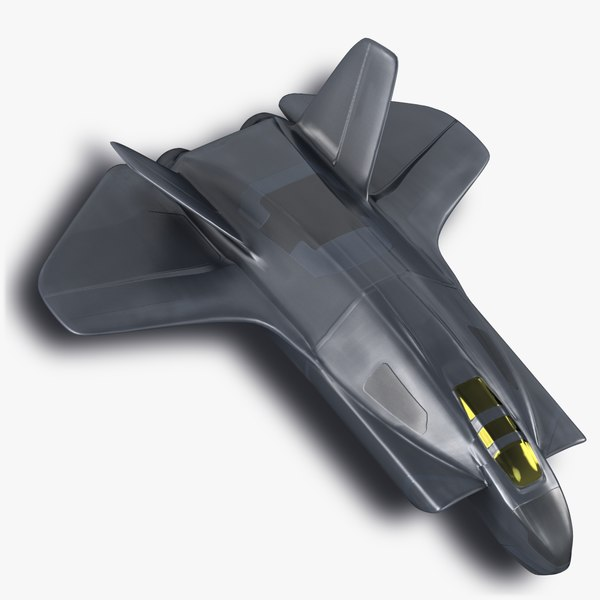 3d space fighter jet