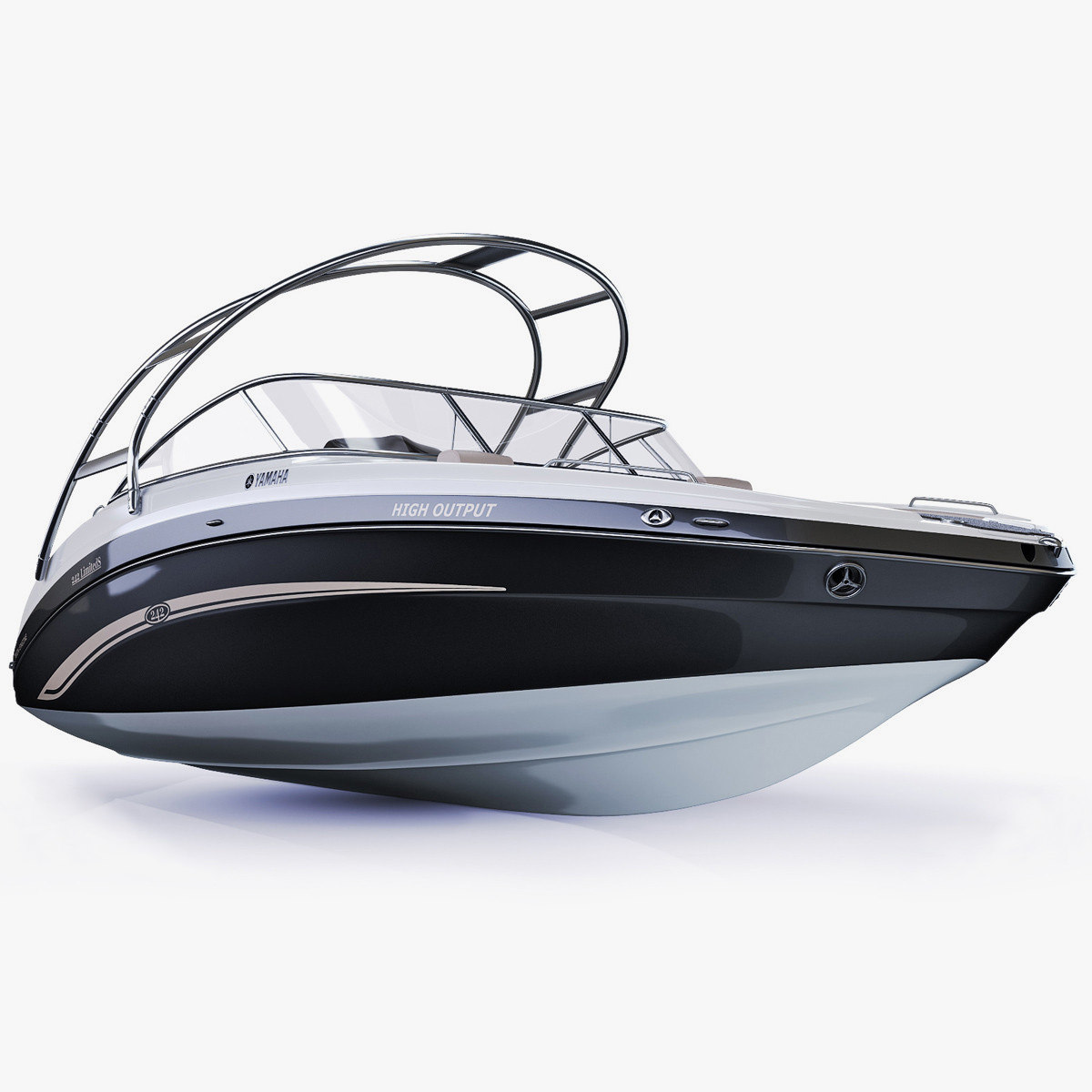 3d model luxury yamaha 242 limited