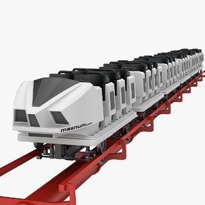 roller coaster train 3d model