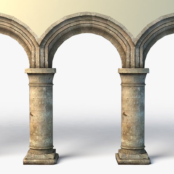 3d 3ds rustic archway