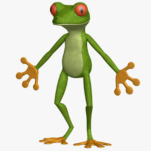 3d model puppet frog