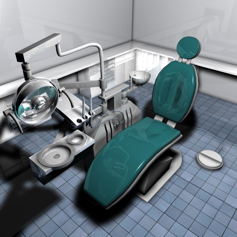 dental surgery room 3d model