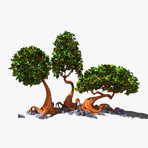 ma cartoon trees
