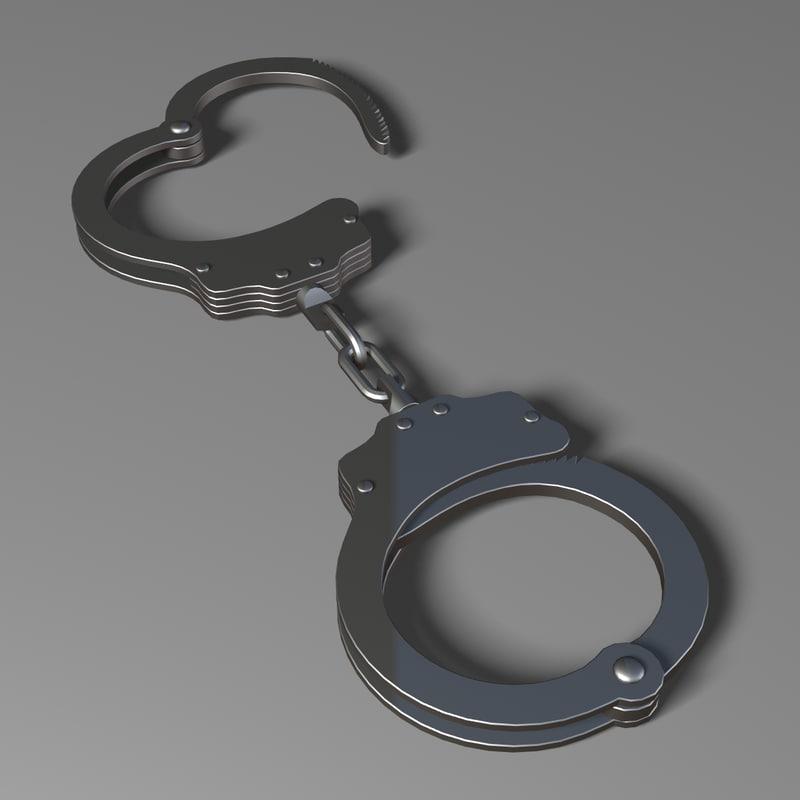 handcuffs 3d model