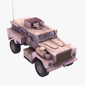 cougar mrap 4x4 3d model