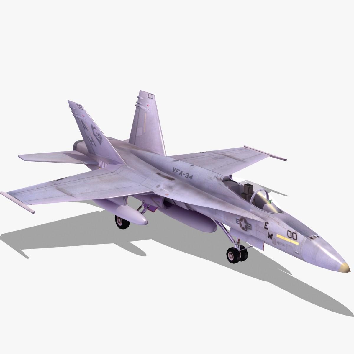 hornet strike fighter air 3d model