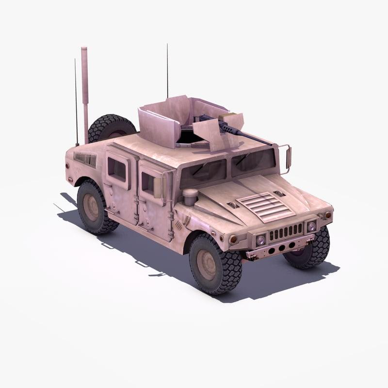 3d m1114 hmmwv model