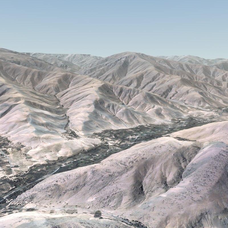mountain terrain landscape 3d max