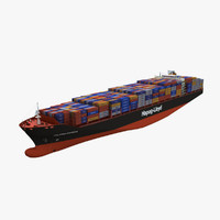 cargoship containers 3ds
