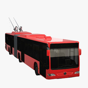3ds max articulated trolleybus