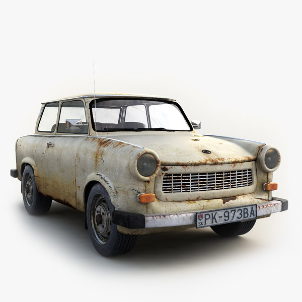 3d old classic car trabant
