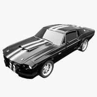 3d model mustang 1967