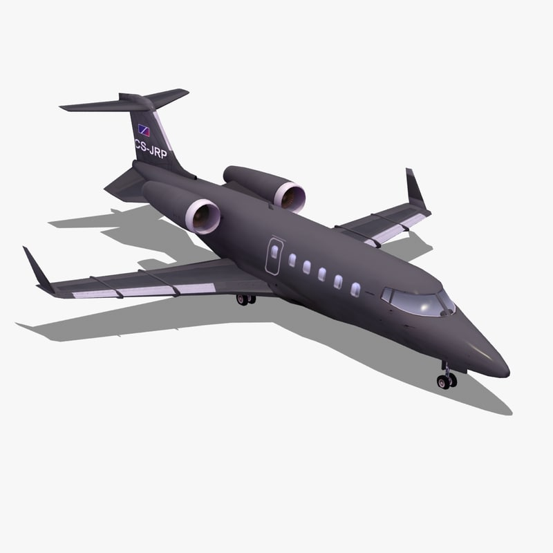 learjet60 private jet learjet 60 3d lwo