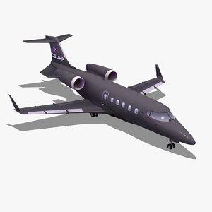 learjet60 private jet learjet 60 3d lwo