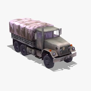 3d model m35 5 army truck