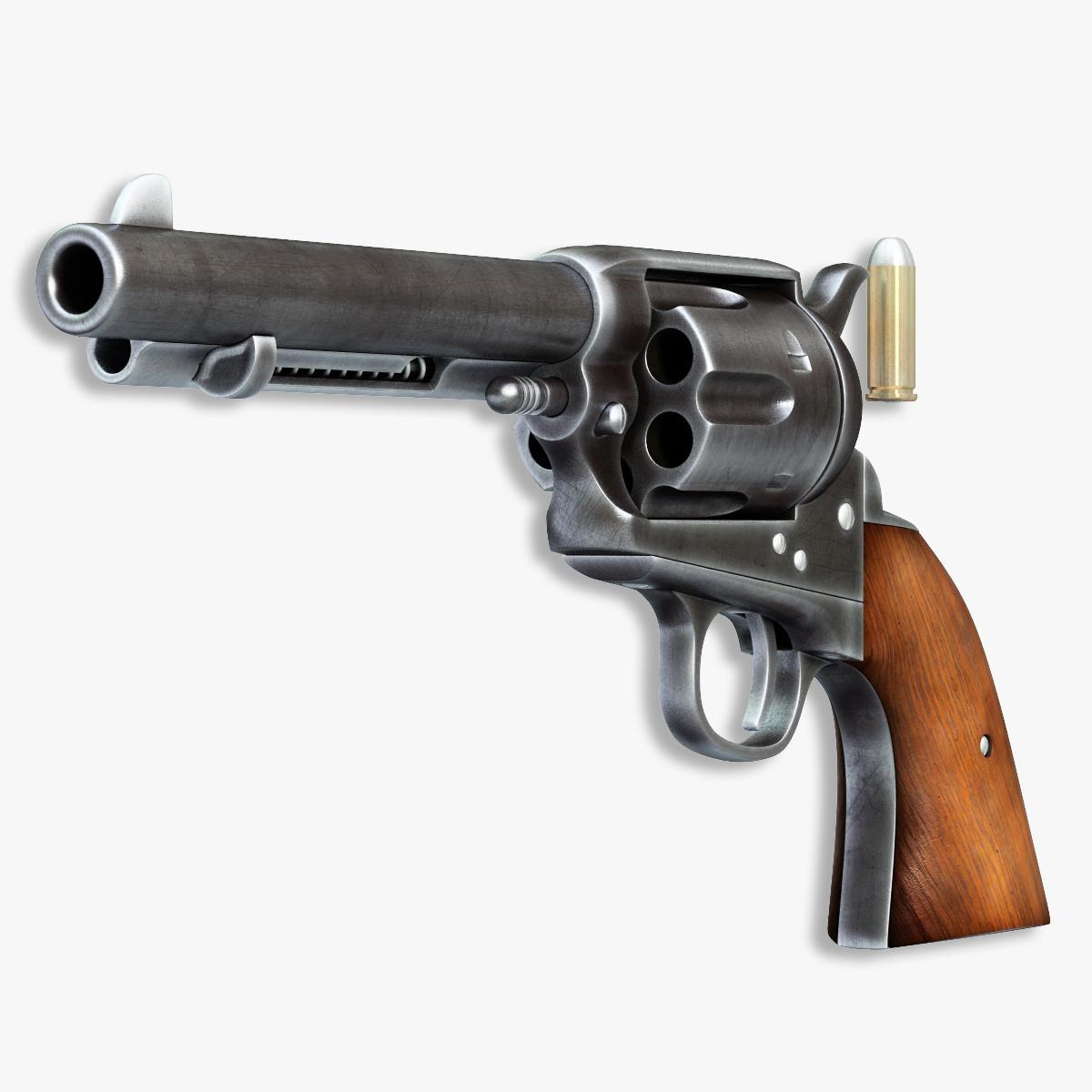 colt handgun peacemaker 2 3d model