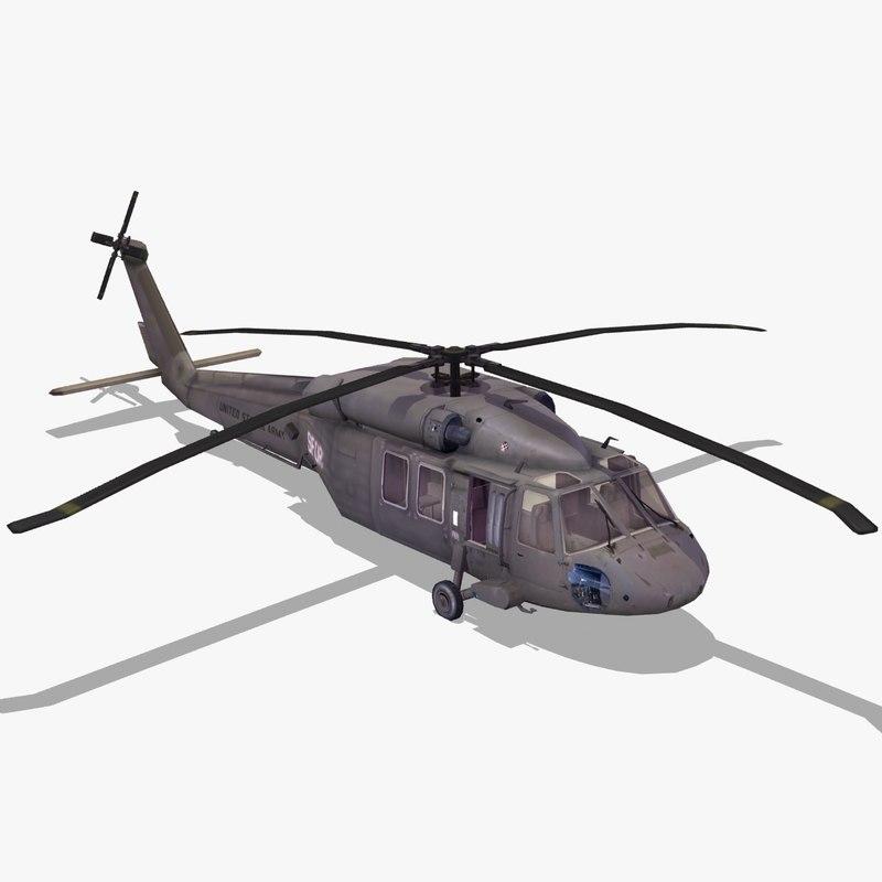 uh60 blackhawk helicopter black hawk 3d max