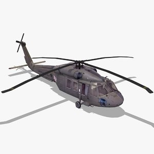 uh60 blackhawk helicopter black hawk 3d max