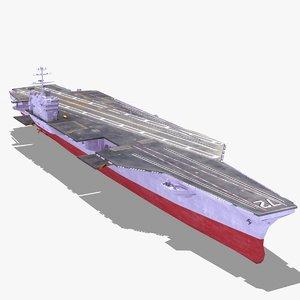 cvn72 carrier uss aircraft 3d 3ds
