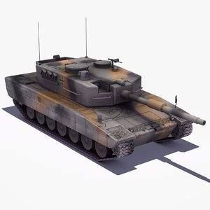 3ds max leopard2a4 mbt german army