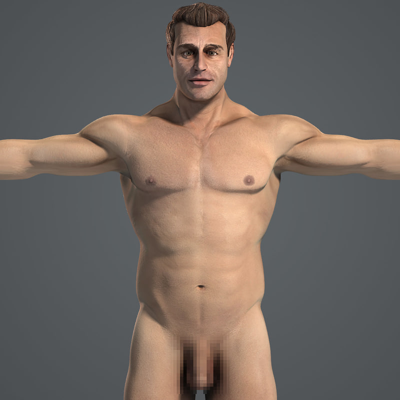 3ds max male body anatomy