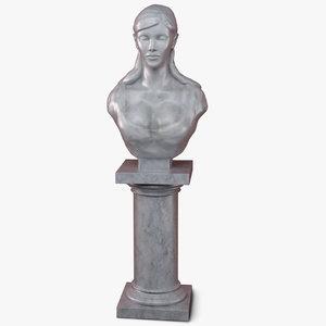 marble sculpture 3d model