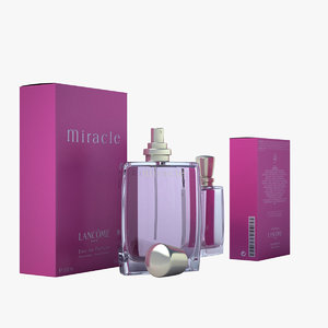 3ds max lancome miracle perfume