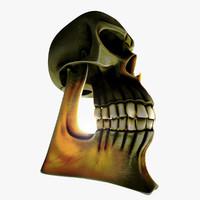 head dead human 3d model