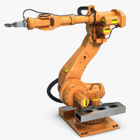 3d industrial robot arm 1 model