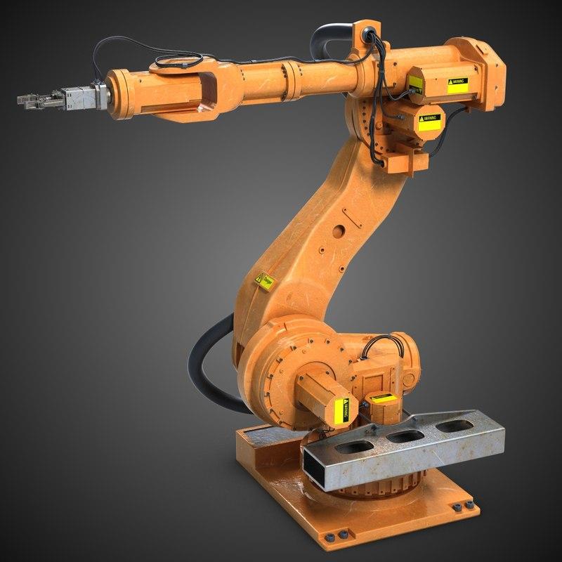 3d industrial robot arm 1 model