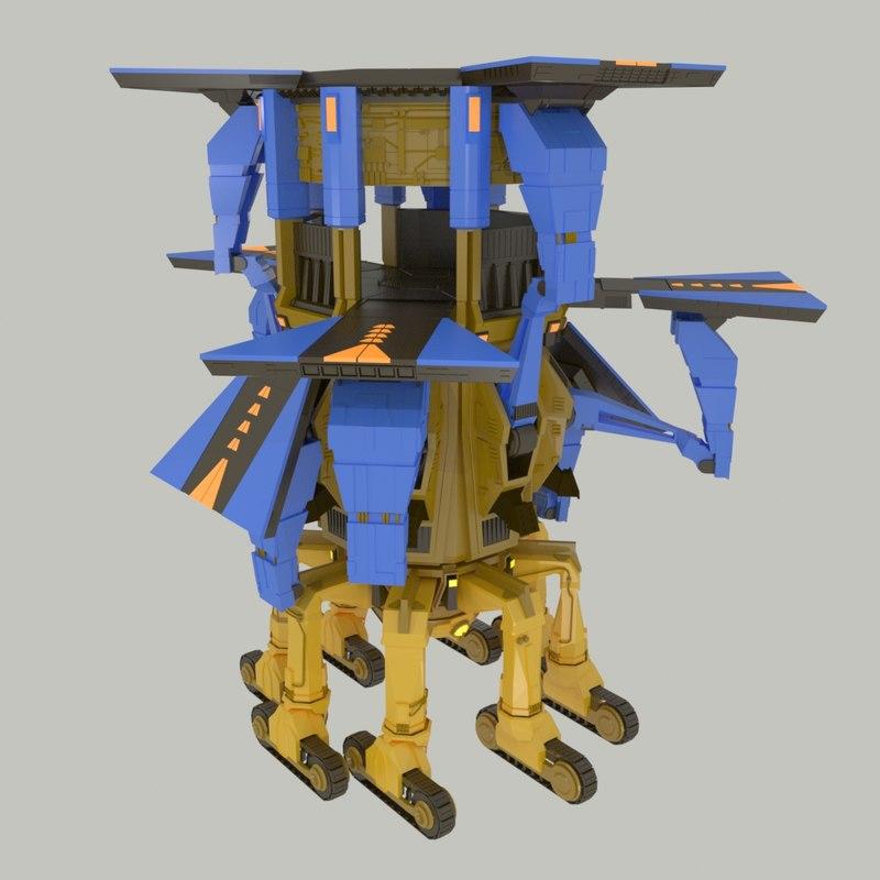 3d model landing robot lr-12