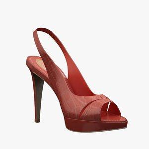 - red sandals caovilla 3d obj