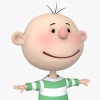 Cartoon Kid 03 Pink Cheeks